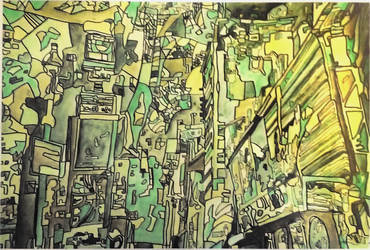 City Abstract by TheLeviathan45