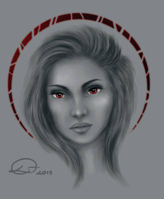 Red and Grey by Domitka