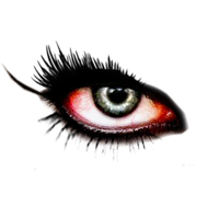 ojo izquierdo de vampiro png by ByAbii