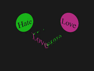 Ambigram: Love/Hate by jb-adder