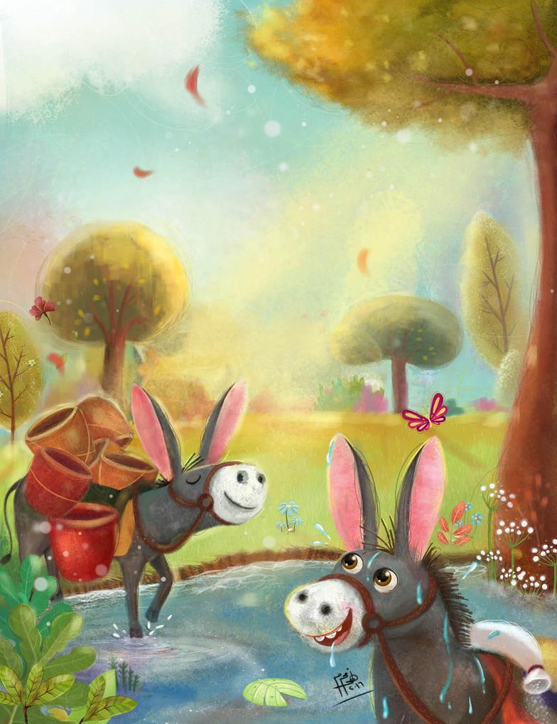 The story of two donkeys by nohamoharram