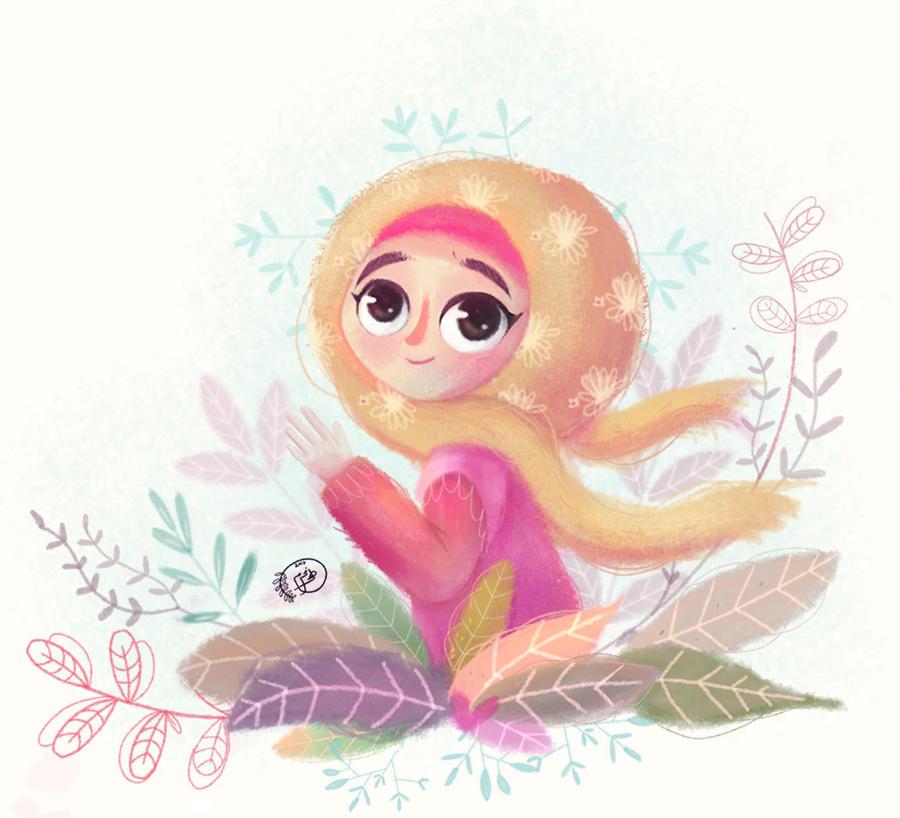 girl illustration by nohamoharram