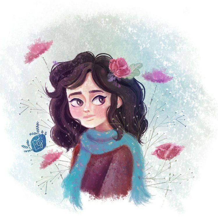 Girl illustraion by nohamoharram