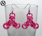 Pink Triangle Chainmaille Earrings