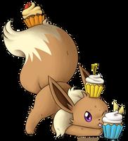 Cupcake Eevee by MizuMew