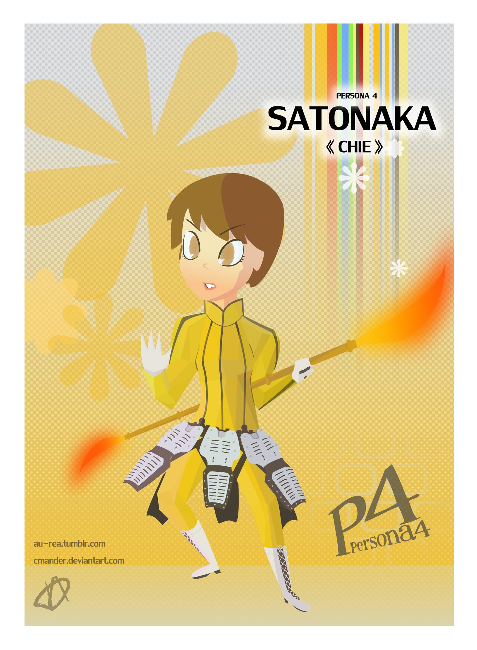 satonaka chie by cmander on deviantart
