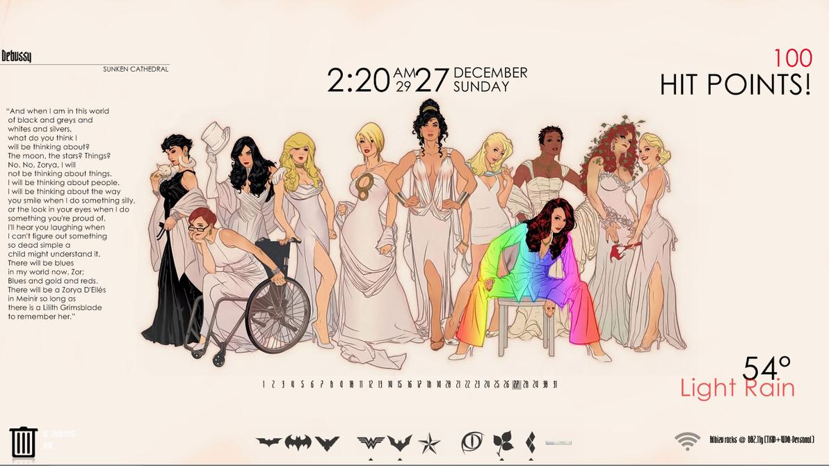 Women of DC Desktop by Ladyreinhilde