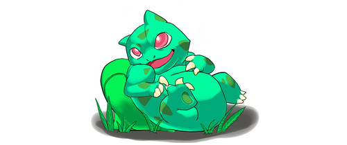 Tooth-ache Inducing Bulbasaur by Dralenaxe