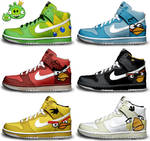 Angry Birds Nike Dunks