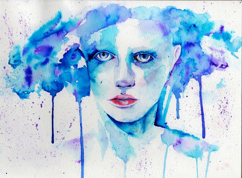 Experimentation with watercolors by Aqulius