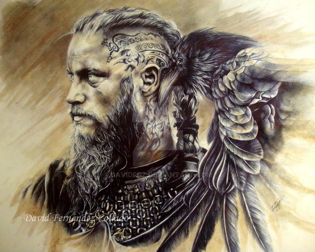 Ragnar lodbrok by davidfdz on deviantart for Ragnar head tattoo stencil