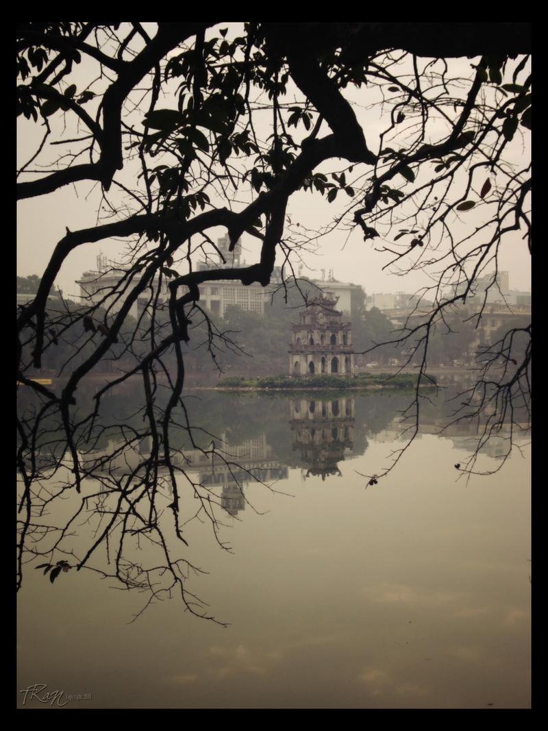 Hanoi - Hoan Kiem Lake. by vnaust