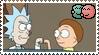Rick X Morty BROTP Stamp by Bad-Blood-Princess
