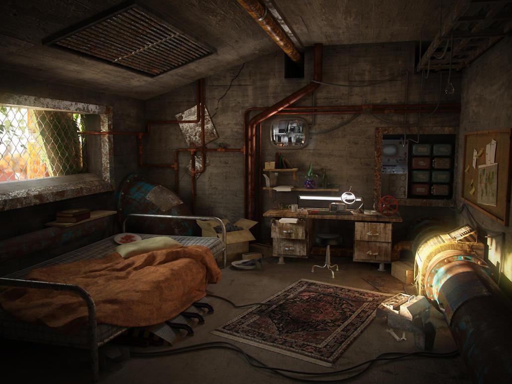 A post-apocalyptic room by Hrormir on DeviantArt