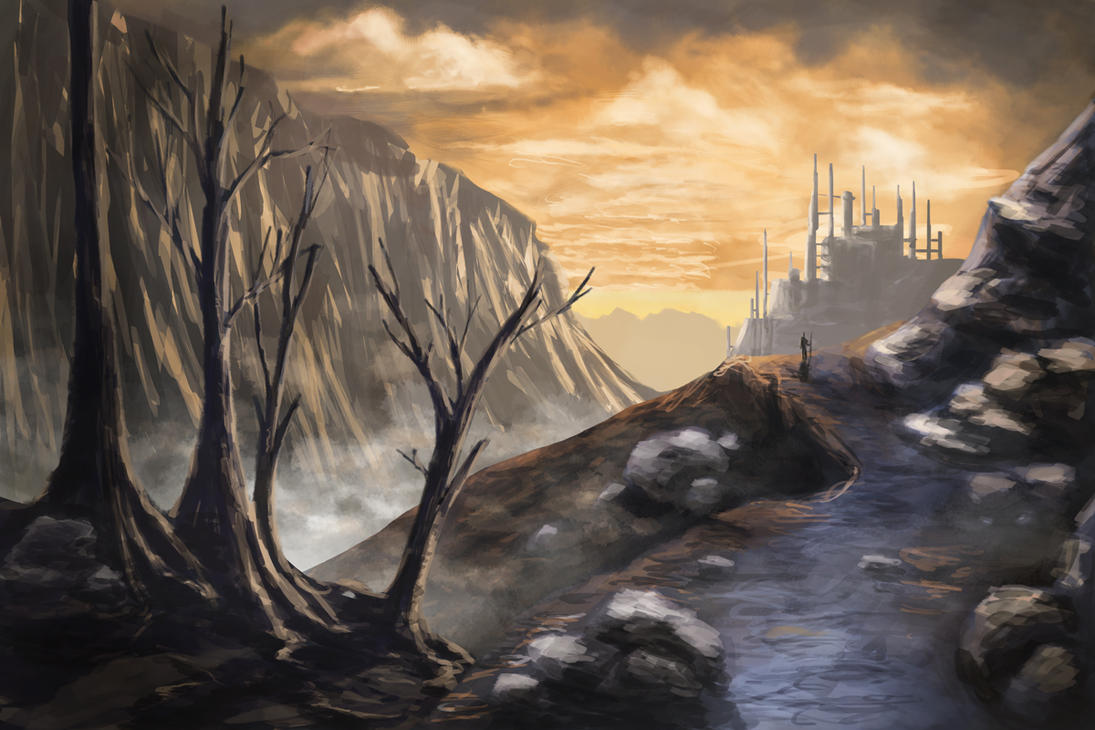Fantasy landscape by Hrormir on DeviantArt