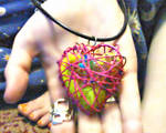 My Little Pony Inside a Pink Heart Cage Necklace