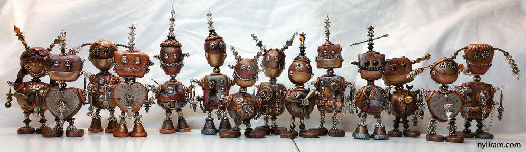 Steampunk Robots by MarilynMorrison