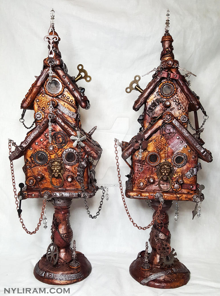 2 Large steampunk'd out houses - nyliram.com by MarilynMorrison