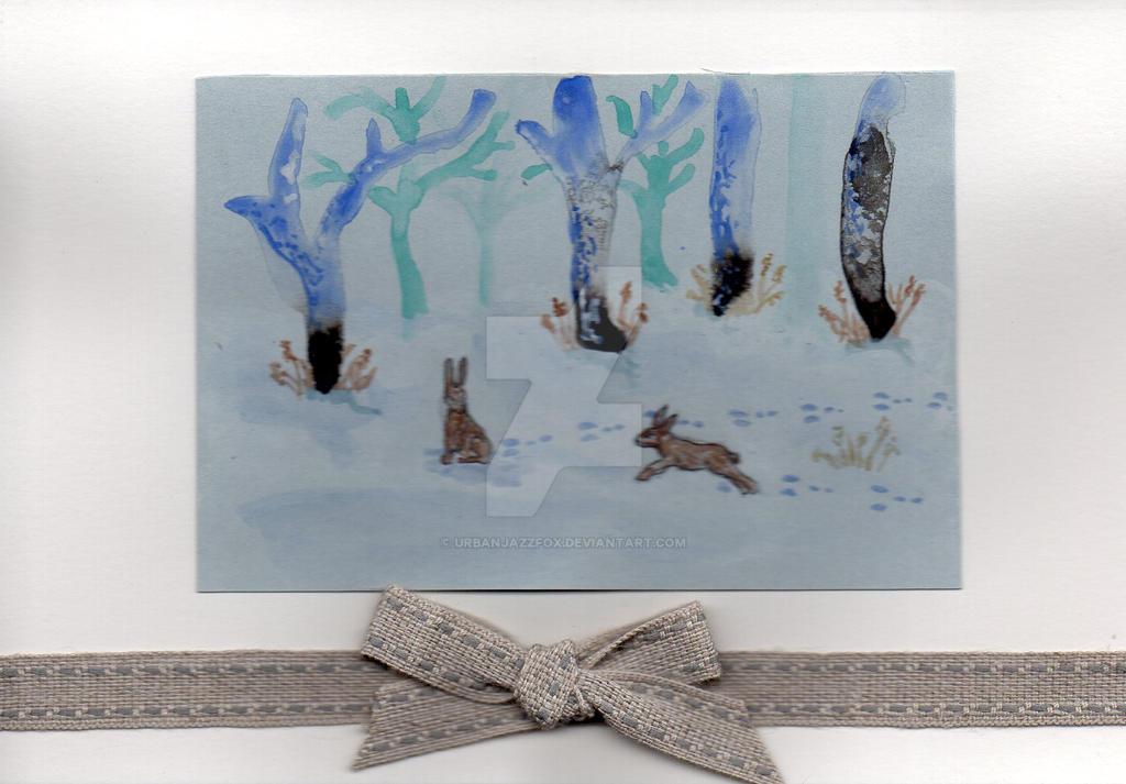 Hares by UrbanJazzFox