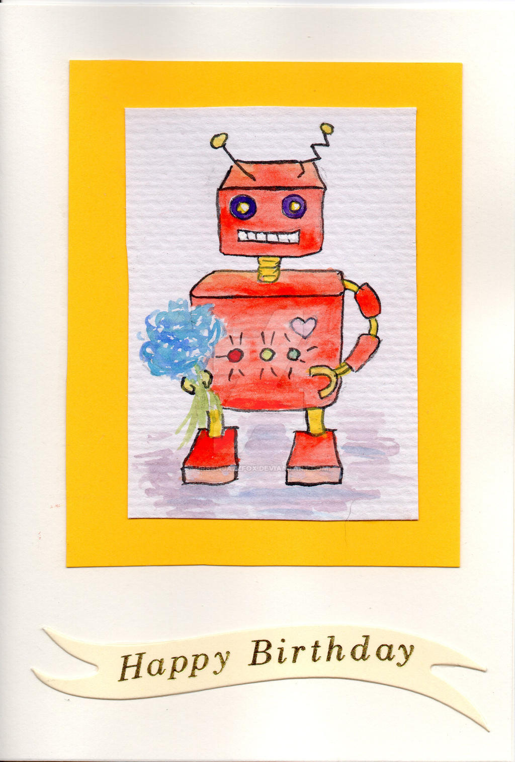 Birthday Robot #2 by UrbanJazzFox