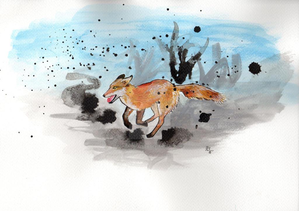 Running fox by UrbanJazzFox