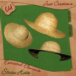 Straw Hats - CU4CU Ok Freebie