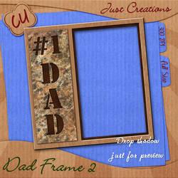 CU Dad Frame Freebie