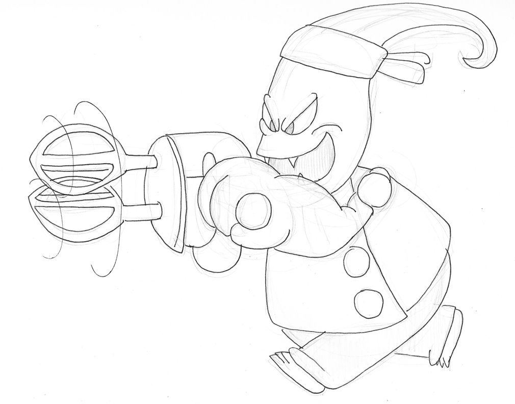 Chef Pepper Jack Coloring Page