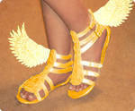 Golden Winged Sandals