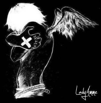 Sad Angel by LadyAmme