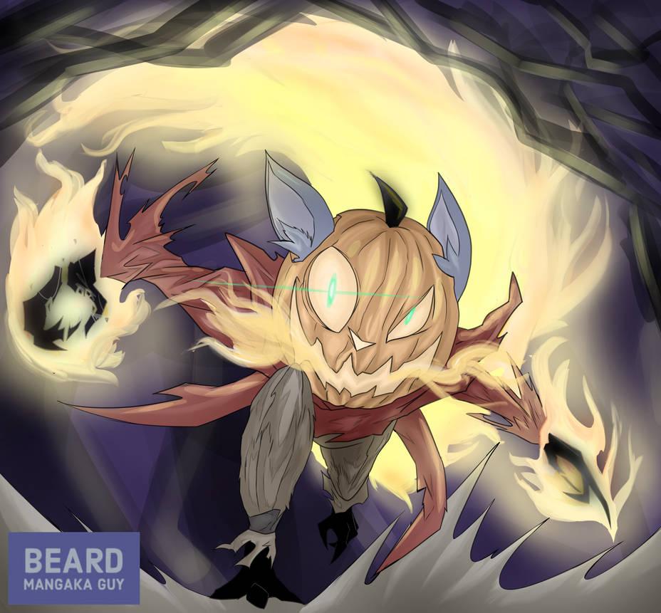[Commission] Halloween pumpkin fox by beard-mangaka-guy