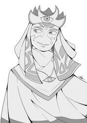 [Commission] OC Sketch by beard-mangaka-guy