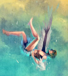 The Fall of Icarus by Ecthelian