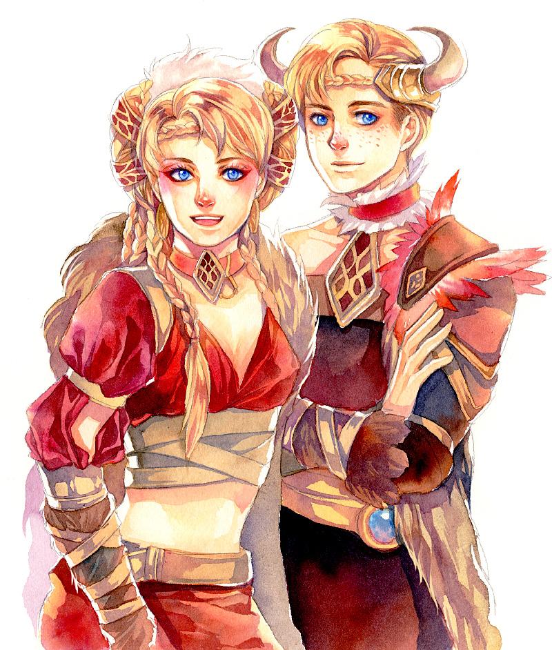 Freya and Frey by Ecthelian