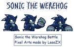 Werehog Battle Pixel Art 2