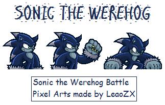 Werehog Battle Pixel Art 2 by LeaoZX