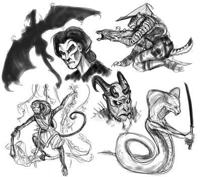 Sketches of the Akaviri
