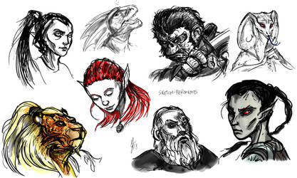 Photoshop first sketch experiments by ShoutFinder