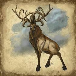 Khuaviri Bestiary, Goat-Elk by ShoutFinder