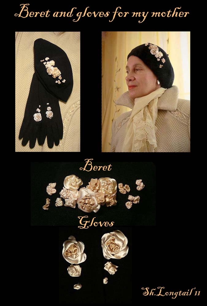 Beret and Gloves for my mother by ShooLongtail