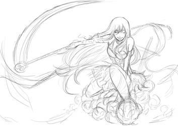 [Sketch] : Lady Death by Zungie