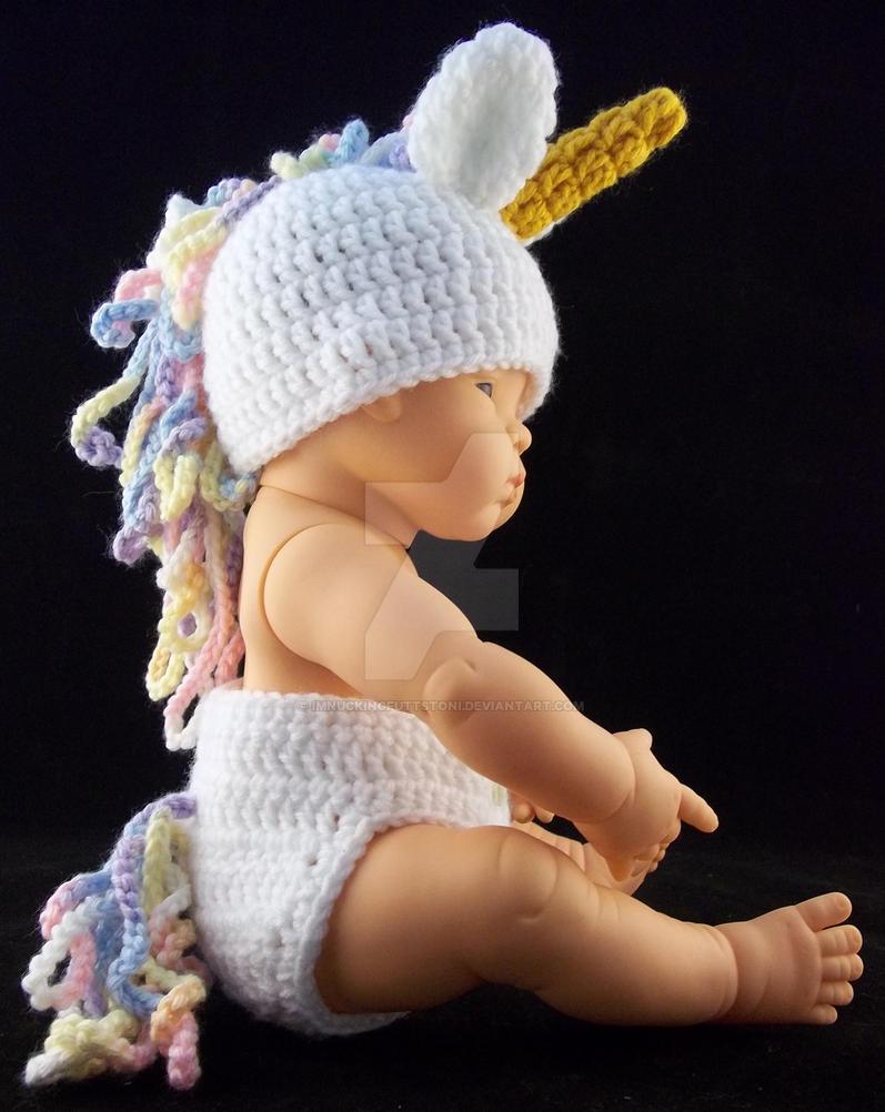 3e2c124ebc0 Crochet Unicorn Beanie Diaper Cover Baby Set by ImNuckingFuttsToni ...