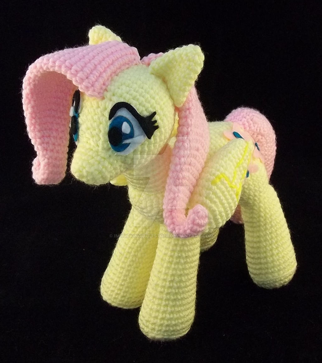 *Sold* Crochet Fluttershy MLP Amigurumi Plush by ImNuckingFuttsToni