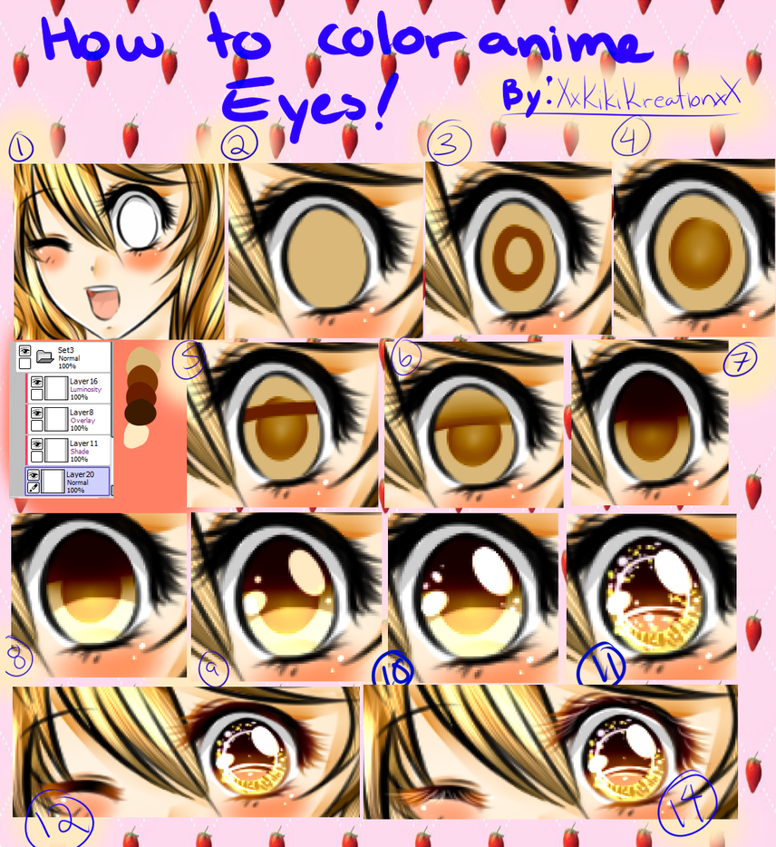 Tutorial:. How I Color Anime Eye by KikiKreation on DeviantArt