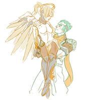 Sketch-MercyxGenji by coolcater96