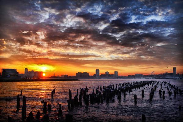 New York Sunset by Danwarner