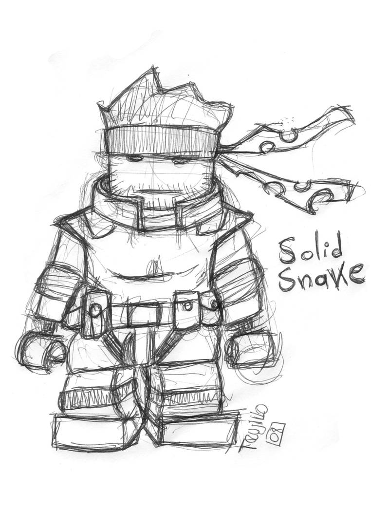 Solid 'The Lego Man' Snake by pernobassist on DeviantArt