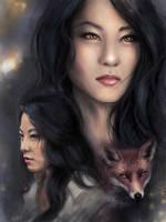 Young kitsune by PolliPo