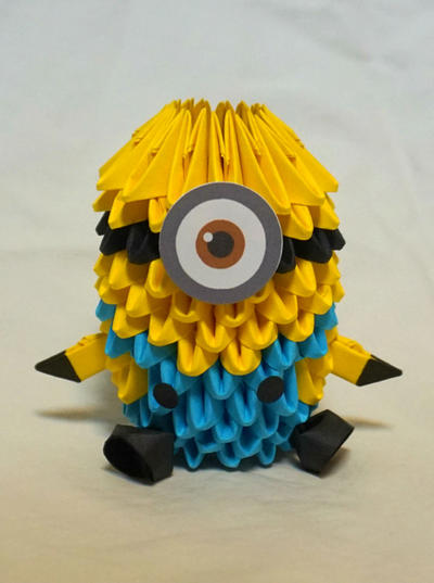 despicable me minion 3d origami by pandanpandan on deviantart. Black Bedroom Furniture Sets. Home Design Ideas