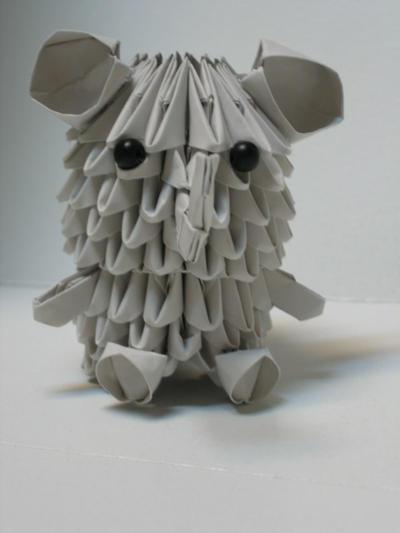 3 D Origami Elephant By Pandanpandan